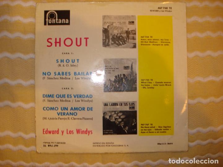 Discos de vinilo: EDWARD Y LOS WINDYS, SHOUT + 3 - Foto 2 - 194231716