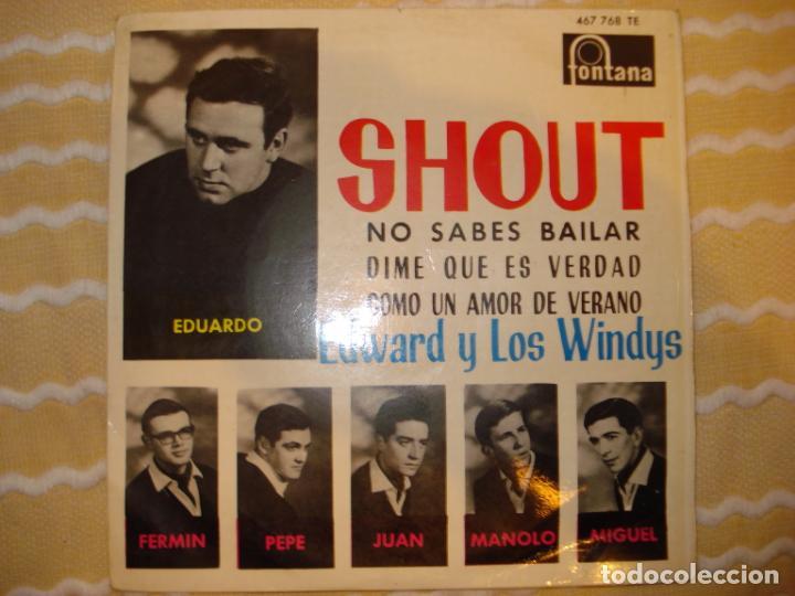 EDWARD Y LOS WINDYS, SHOUT + 3 (Música - Discos de Vinilo - EPs - Grupos Españoles 50 y 60)