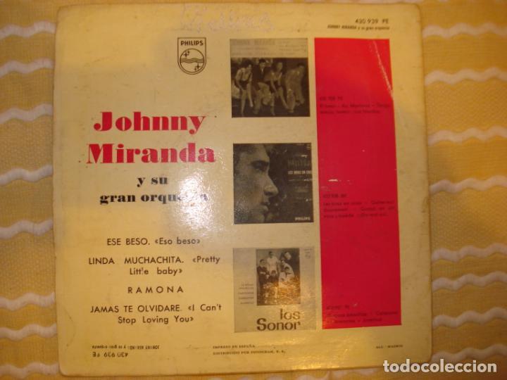 Discos de vinilo: JOHNNY MIRANDA Y SU ORQUESTA (SOLO FUNDA) - Foto 2 - 194231948