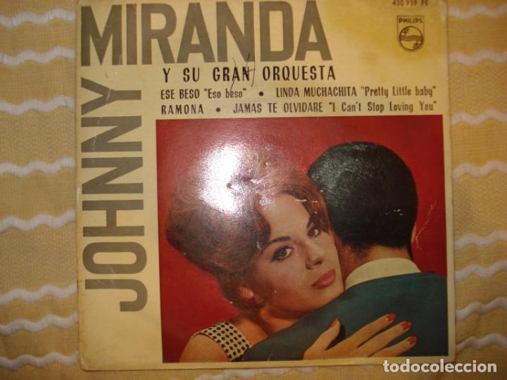 JOHNNY MIRANDA Y SU ORQUESTA (SOLO FUNDA) (Música - Discos de Vinilo - EPs - Solistas Españoles de los 50 y 60)