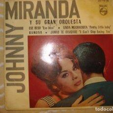 Discos de vinilo: JOHNNY MIRANDA Y SU ORQUESTA (SOLO FUNDA). Lote 194231948