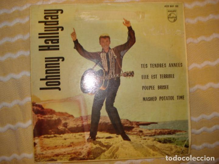 JOHNNY HALLYDAY - TES TENDRES ANNEES + 3 AÑO 1963 (Música - Discos de Vinilo - EPs - Pop - Rock Extranjero de los 50 y 60)