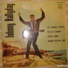 Discos de vinilo: JOHNNY HALLYDAY - TES TENDRES ANNEES + 3 AÑO 1963. Lote 194233185