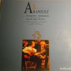 Discos de vinilo: CONCIERTO DE ARANJUEZ-JOAQUIN RODRIGO-INTERPRETADO POR PACO DE LUCIA-CONTIENE ENCARTE. Lote 194233323