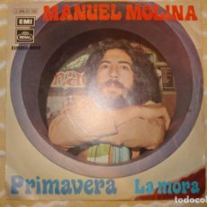 Discos de vinilo: MANUEL MOLINA , PRIMAVERA, LA MORA, AÑO 1971. Lote 194233426