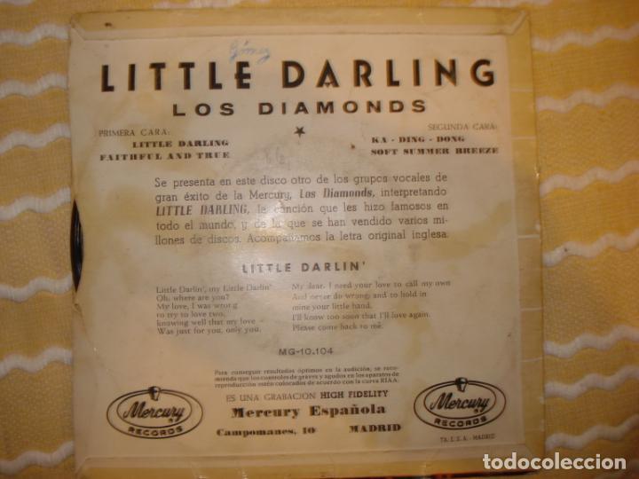 Discos de vinilo: LOS DIAMONDS , LITTLE DARLING +3 - Foto 2 - 194233615