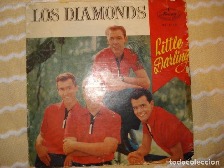 LOS DIAMONDS , LITTLE DARLING +3 (Música - Discos de Vinilo - EPs - Pop - Rock Extranjero de los 50 y 60)