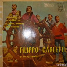 Discos de vinilo: FILIPPO CARLETTI Y SU QUINTETO, NIÑA ISABEL+3. Lote 194233927