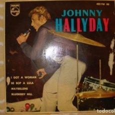 Discos de vinilo: JOHNNY HALLYDAY , EP JOHNNY EN NUEVA YORK. Lote 194234731
