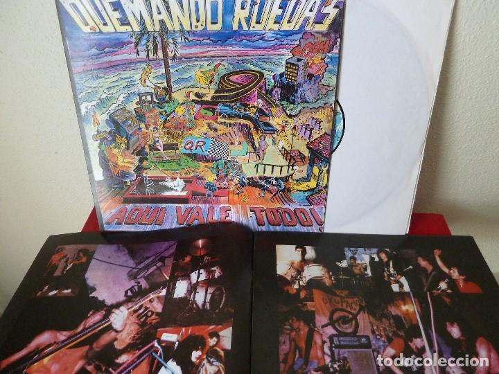 Discos de vinilo: QUEMANDO RUEDAS-LP/DISCO VINILO-QUEMANDO RUEDAS·AQUI VALE TODO!-1990·BASATI DISKAK - Foto 8 - 194235807