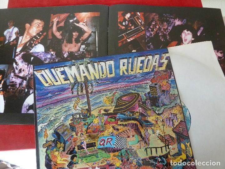 Discos de vinilo: QUEMANDO RUEDAS-LP/DISCO VINILO-QUEMANDO RUEDAS·AQUI VALE TODO!-1990·BASATI DISKAK - Foto 10 - 194235807
