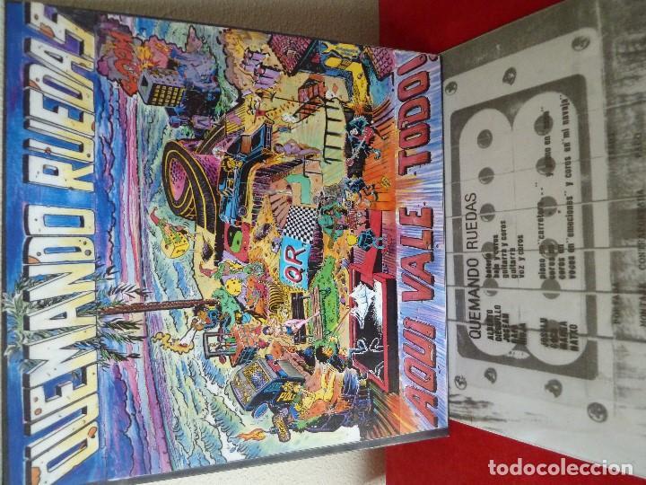 Discos de vinilo: QUEMANDO RUEDAS-LP/DISCO VINILO-QUEMANDO RUEDAS·AQUI VALE TODO!-1990·BASATI DISKAK - Foto 11 - 194235807