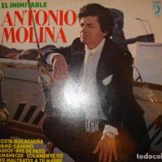 Discos de vinilo: EL INIMITABLE ANTONIO MOLINA, LP DISCOPHON AÑO 1981. Lote 194236292
