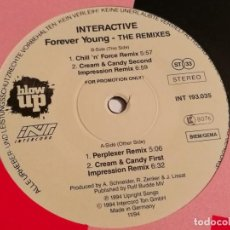 Discos de vinil: INTERACTIVE - FOREVER YOUNG - THE REMIXES - 1994. Lote 194237420