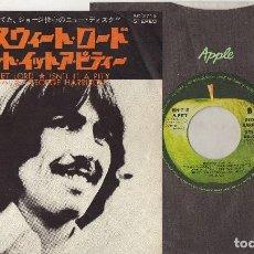 Discos de vinilo: GEORGE HARRISON MY SWEET LORD 1970 1ST PRESS ORIGINAL JAPAN SINGLE NM BEATLES JAPON. Lote 194239066