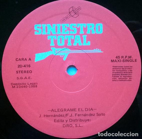 Discos de vinilo: Siniestro Total, Alegrame el dia. Dro, Spain 1988 (Maxi-LP) - Foto 3 - 194240257