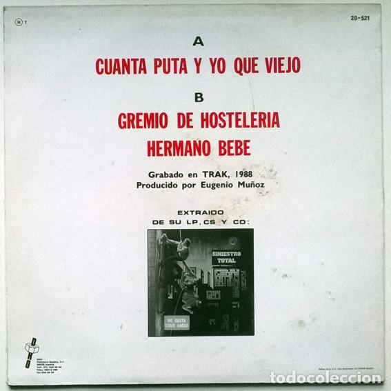 Discos de vinilo: Siniestro Total, Cuanta puta y yo que viejo. Dro, Spain 1988 (Maxi-LP) - Foto 2 - 194241206