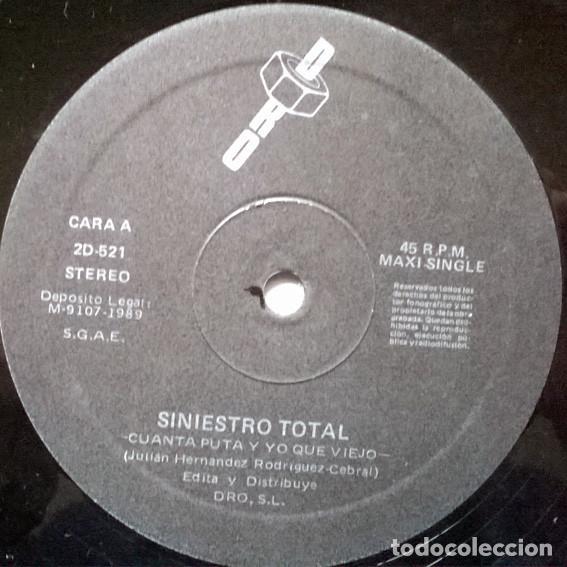 Discos de vinilo: Siniestro Total, Cuanta puta y yo que viejo. Dro, Spain 1988 (Maxi-LP) - Foto 3 - 194241206