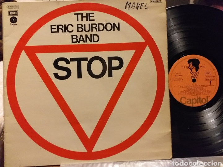 THE ERIC BURDON BAND STOP ESPAÑA 1975 (Música - Discos - LP Vinilo - Pop - Rock - Extranjero de los 70)