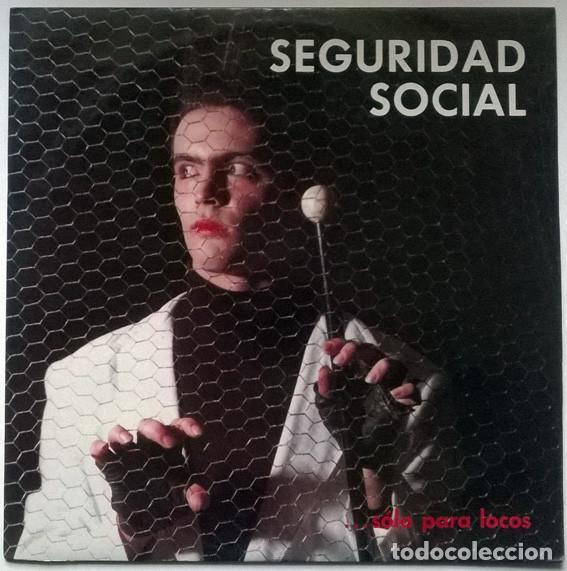 SEGURIDAD SOCIAL. SOLO PARA LOCOS. CITRA, SPAIN 1985 MINI-LP (Música - Discos de Vinilo - Maxi Singles - Grupos Españoles de los 70 y 80)