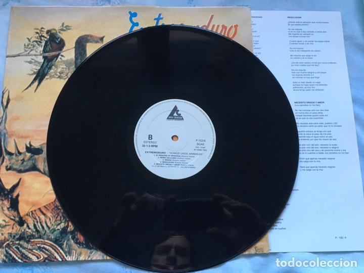 Discos de vinilo: Extremoduro somos unos animales incluye encarte VER FOTOS marea barricada rosendo - Foto 2 - 194242632