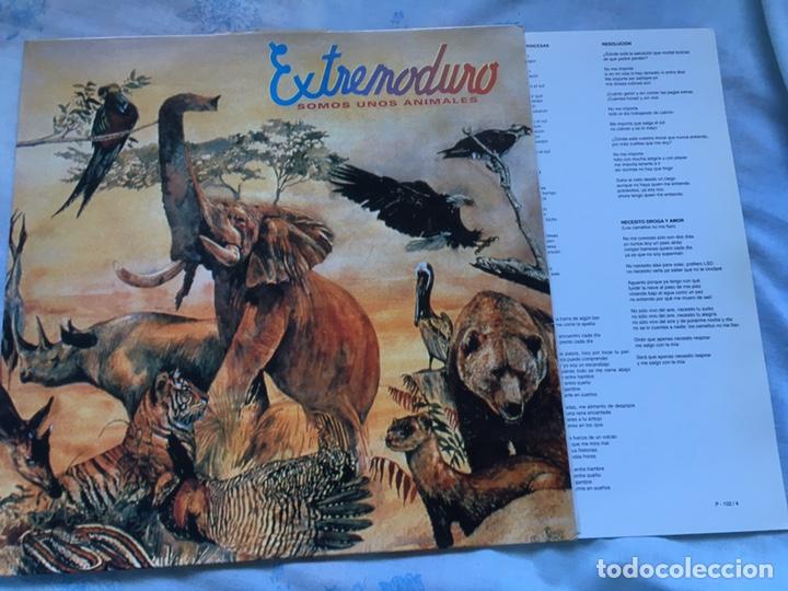 EXTREMODURO SOMOS UNOS ANIMALES INCLUYE ENCARTE VER FOTOS MAREA BARRICADA ROSENDO (Música - Discos - LP Vinilo - Rock & Roll)