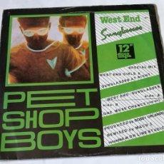 Discos de vinilo: PET SHOP BOYS - WEST END - SUNGLASSES - 1984. Lote 194243790