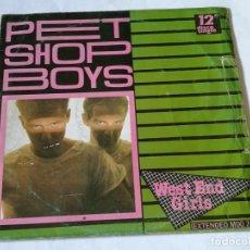 Discos de vinilo: PET SHOP BOYS - WEST END GIRLS (EXTENDED MIX) - 1984. Lote 194244625