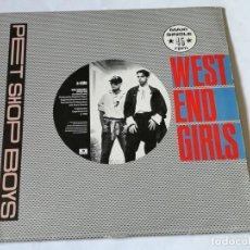 Discos de vinilo: PET SHOP BOYS - WEST END GIRLS - 1985. Lote 194244752
