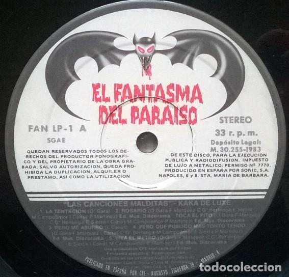 Discos de vinilo: Kaka de Luxe. Las canciones malditas. El fantasma del paraíso, Spain 1983 LP original - Foto 3 - 194244922