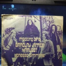 Discos de vinilo: SG BARCLAY JAMES HARVEST : MOCKING BIRD . Lote 194247716