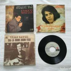 Discos de vinilo: 4 SINGLES DE LOS AÑOS 60 Y 70. ENRICO MACÍAS, JAIRO, TRINI LÓPEZ, MICKY. Lote 194248903