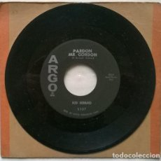 Discos de vinilo: ROD BERNARD. THIS SHOULD GO ON FOREVER/ PARDON MR. GORDON. ARGO, USA 1959 SINGLE. Lote 194249276