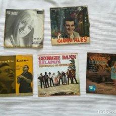 Discos de vinilo: 4 SINGLES Y UNA CARÁTULA. TWINKLE, GIANNI ALES, FRANKIE LAINE, GEORGIE DANN, ANTON LETKISS. Lote 194250278