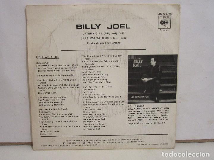 Discos de vinilo: Billy Joel - Uptown Girl / Careless Talk - Single - 1983 - Spain - VG+/VG - Foto 2 - 194250767