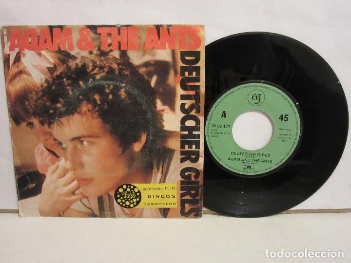 THE ORIGINAL ADAM & THE ANTS - DEUTSCHER GIRL - SINGLE - 1982 - SPAIN - VG+/VG (Música - Discos de Vinilo - Singles - Pop - Rock Extranjero de los 80)