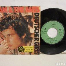 Discos de vinilo: THE ORIGINAL ADAM & THE ANTS - DEUTSCHER GIRL - SINGLE - 1982 - SPAIN - VG+/VG. Lote 194252705