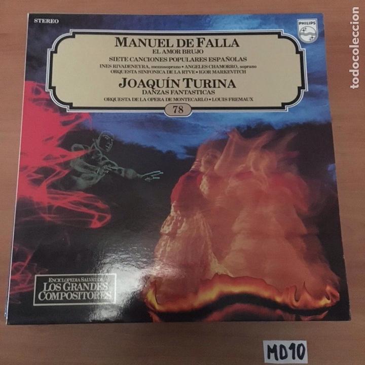 MANUEL DE FALLA JOAQUÍN TURINA (Música - Discos - LP Vinilo - Otros estilos)