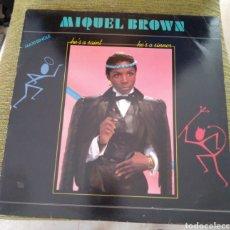 Discos de vinilo: MIQUEL BROWN - HE'S A SAINT, HE'S A SINNER. PROMO. Lote 194256727