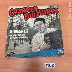 Discos de vinilo: AIMABLE SU ACORDEÓN Y ÓRGANO ELÉCTRICO. Lote 194257358