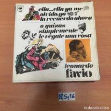 Discos de vinilo: LEONARDO FAVIO. Lote 194258795