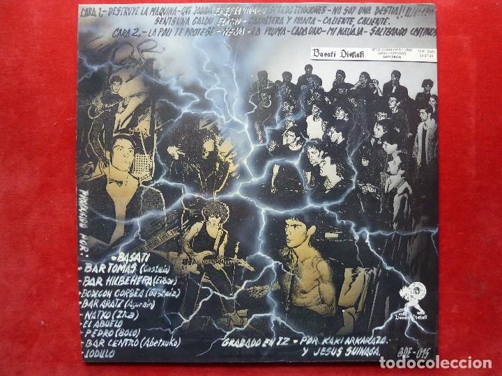 Discos de vinilo: QUEMANDO RUEDAS-LP/DISCO VINILO-QUEMANDO RUEDAS·AQUI VALE TODO!-1990·BASATI DISKAK - Foto 4 - 194235807