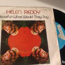 Discos de vinilo: SINGLE ( VINILO) DE HELEN REDDY AÑOS 70. Lote 194260640