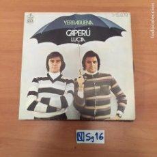 Discos de vinilo: YERBABUENA CAPERU LUCIA. Lote 194261021