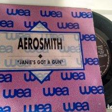 Discos de vinilo: SINGLE ( VINILO) -PROMOCION- DE AEROSMITH AÑOS 80. Lote 194261047