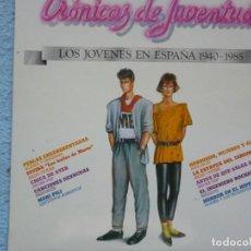 Discos de vinilo: CRONICAS DE JUVENTUD,(ALAKA,EJECUTIVOS AGRESIVOS, NACHA POP Y OTROS)AÑOS 80. Lote 194262010