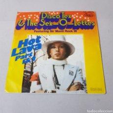 Discos de vinilo: DISCO TEX - THE SEX O LETTES - HOT LAVA PART 1 & 2. Lote 194262348