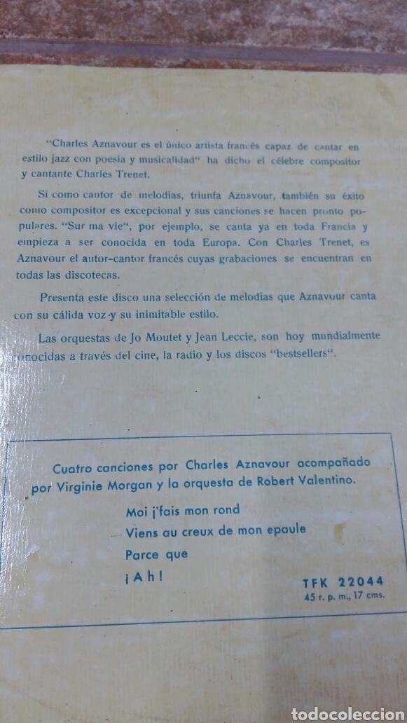 Discos de vinilo: Charles Aznavour. Disco 33 rpm. Década 1950. Telefunken TLF 27002 - Foto 3 - 194263066