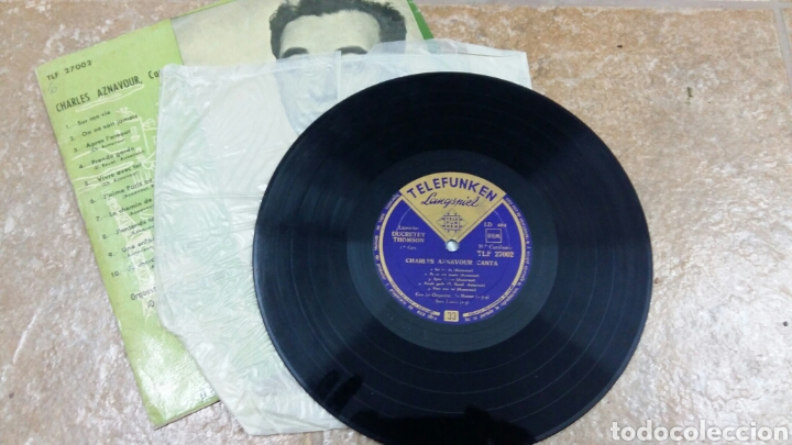 Discos de vinilo: Charles Aznavour. Disco 33 rpm. Década 1950. Telefunken TLF 27002 - Foto 4 - 194263066