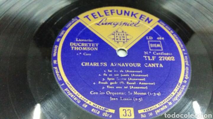 Discos de vinilo: Charles Aznavour. Disco 33 rpm. Década 1950. Telefunken TLF 27002 - Foto 5 - 194263066